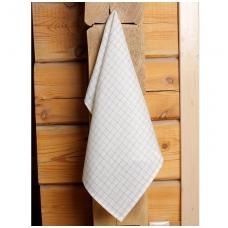 Baltas languotas virtuvinis rankšluostis